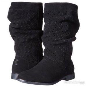TOMS Serra Black Suede Boots Sz 8